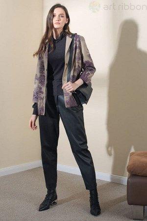 Жакет Идеальный экстравагантный жакет ArtRibbon отлично подойдет в качестве верхней одежды в слегка прохладную погоду. Качественные материалы, из которых изготовлен жакет, сделают Ваш образ дорогим и
