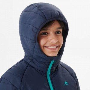 Пуховик Теплый и удобный пуховик. Он защитит от холода и небольшого дождя. Идеальная модель для спортивных занятий ребенка на улице. Для этого пуховика используется утеплитель, переработанный на 90%.