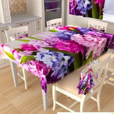 ОГОГО Какой Выбор Домашнего Текстиля. — Скатерти квадратные — Клеенки и скатерти