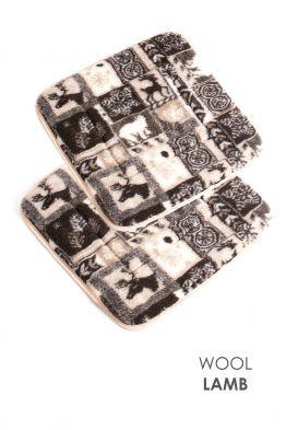 WoolLamb. Одежда и аксессуары из верблюжьей и овечьей шерсти — Накидки на автокресла и табуреты — Декоративные подушки