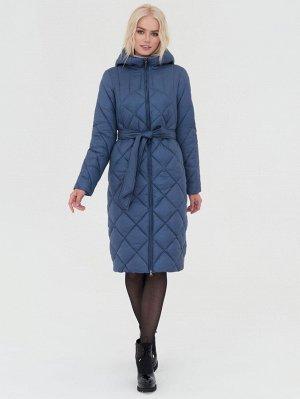 Пальто сего-голубой S-XXL