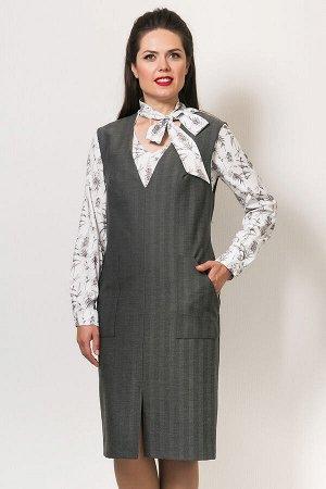 Сарафан, С-594/2  серый