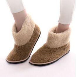 WoolLamb. Одежда и аксессуары из верблюжьей и овечьей шерсти — Домашняя обувь меховая — Обувь