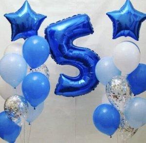 Набор фольгированных шаров набор 13 шариков