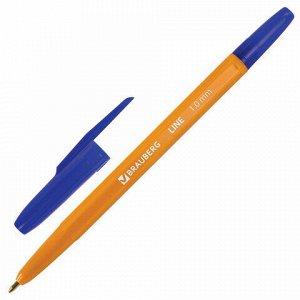 """Ручка шариковая BRAUBERG """"ORANGE Line"""", СИНЯЯ, корпус оранжевый, узел 1 мм, линия письма 0,5 мм, 143331"""