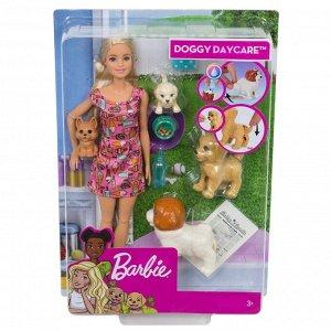 Игровой набор Mattel Barbie Кукла и щенки9