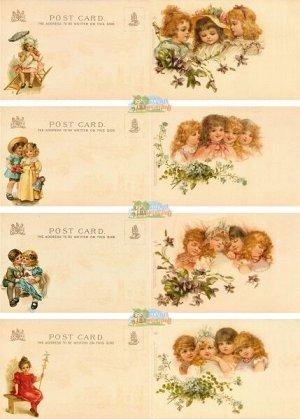 Декупажная карта для деревянной открытки