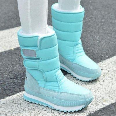 Предзаказ -80% ❄ Зимние Ботинки и Кеды 2020❄ Реальные фото — Яркие «Дутики» на липучках, — Дутики