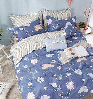 Комплект постельного белья из сатина 2 спальный с Европростыней