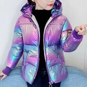 Куртка Яркие, стильные, модные перламутровые  курточки для Ваших чад Наполнитель - Синтепон. Размерная сетка (размер, примерный рост): 90  - рост 85-90  см  100 - рост 90-100 см  110 - рост 100-110 см