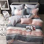 Комплект из сатина 2 спальный с простыней на резинке БЕЗ комбинирования