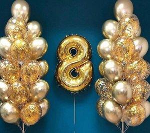 """Набор воздушных шаров с цифрой """"8"""""""