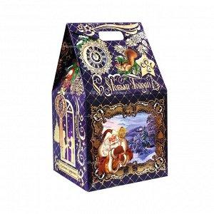 Торжество 1 Медаль шоколадная (25г) x 1 КОРТЕЗ; 2 Шоколадная фигурка Бычок (60г) x 1 КФ «Шоколадный мир»; 3 драже Грильяж в шоколаде (200г) x 1 ОК, ОАО «Рот Фронт»; 4 Поздравление в конверте x 1 Ро
