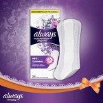 ALWAYS Ежедневные гигиенические прокладки ароматизированные Незаметная защита Удлиненные Duo, 28 шт
