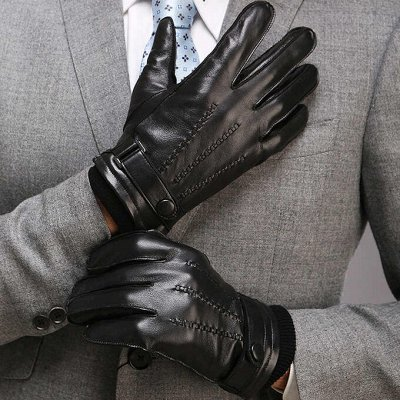 Перчатки для всей семьи! Новинки из лайковый кожи — Перчатки мужские натуральная кожа от 492р — Кожаные перчатки и варежки