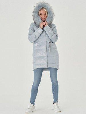Пальто голубой S-XXL