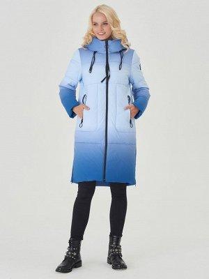 Пальто голубой/синий S-XXL
