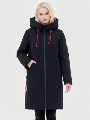 Пальто черный/красный S-XXL