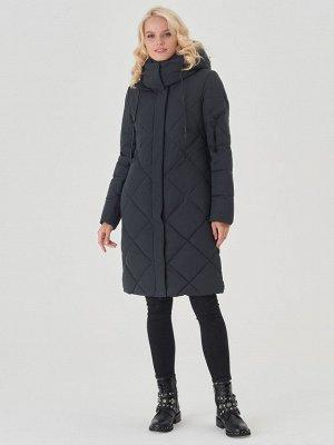 Пальто тем.синий/черный S-XXL