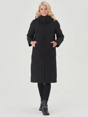 Пальто черный/фиолетовый S-XXL