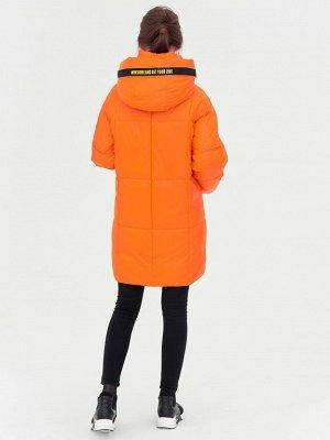 Полупальто оранжевый S-L