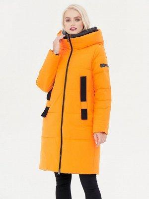 Пальто оранжевый/черный S-XXL