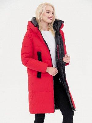 Пальто красный/черный S-XXL