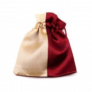 Мешочек подарочный 2х цветный под шелк 10см-12см
