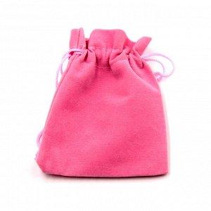 Мешочек подарочный розовый бархатный 9см-12см