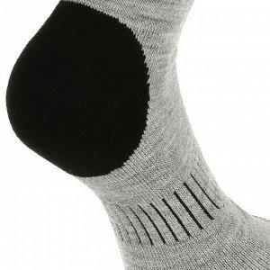 Носки для походов теплые с голенищем средн. высоты д/взрослых серые SH100 X-WARM QUECHUA