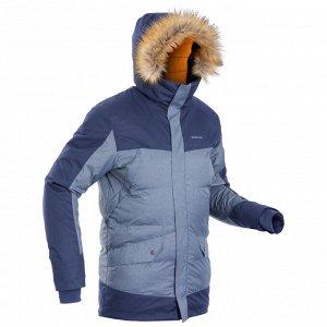 Куртка легкая теплая водонепроницаемая для зимних походов мужская SH500 X-WARM. QUECHUA