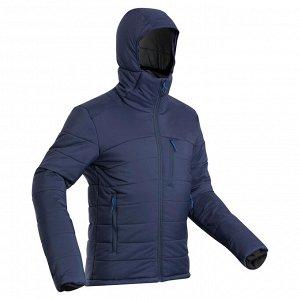 Пуховик для треккинга в горах с капюшоном с темп.комфорта –10°C мужской TREK 500 FORCLAZ