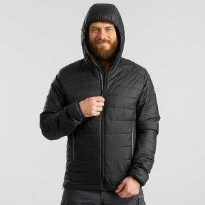 Куртка для треккинга в горах с капюшоном до –5°C мужской черный TREK 100 FORCLAZ
