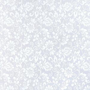 """Витражная пленка """"Орнамент"""", цвет белый"""