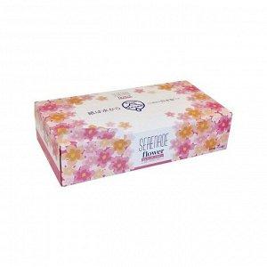 JP/ Ideshigyo Салфетки бумажные Serenade Flower Box Tissue 150шт