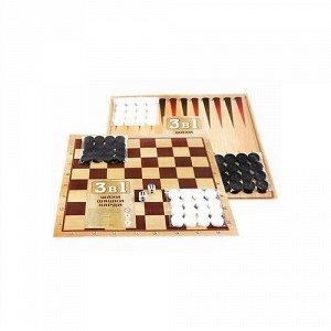 "Игра 3 в 1 ""Шахматы,шашки,нарды"" , пак"