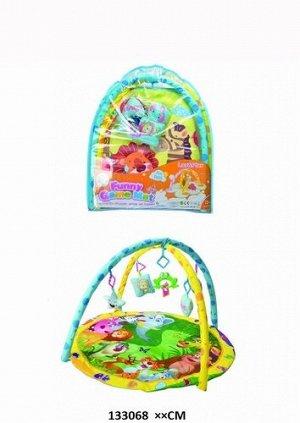 Коврик детский развивающий с подвесками , в сумке