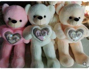 """Мягкая игрушка Медведь с сердечком """"love"""" 100см, в ассорт."""