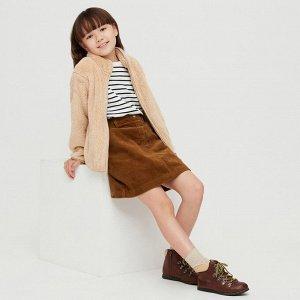 Десткая вельветовая юбка, коричневый