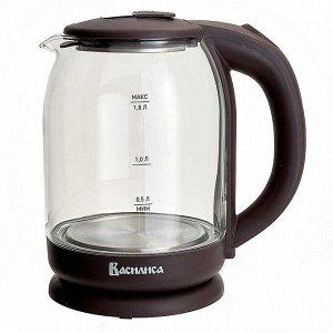 Чайник электрический 1500 Вт, 1,8 л ВАСИЛИСА ВА-1035 коричневый