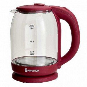 Чайник электрический 1500 Вт, 1,8 л ВАСИЛИСА ВА-1035 бордовый