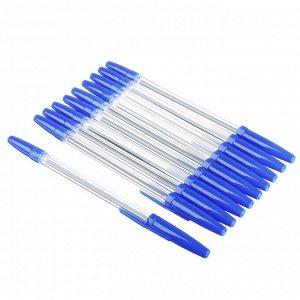 Набор ручек шариковых 10шт, пластик, цвет синий, РО40