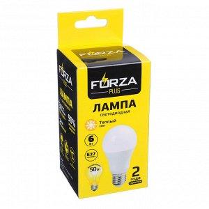 """FORZA"" Лампа светодиодная A60 6W E27 510LM 3000K теплый свет 925-049"