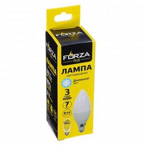 """""""FORZA"""" Лампа светодиодная свеча С37 7W E14 560LM 4000К дневной свет 935-074"""