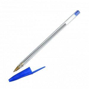 Ручка шариковая синяя, наконечник 0,7мм, пластик, ПРОМО