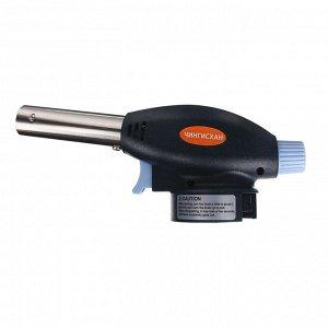 Горелка газовая ЧИНГИСХАН с пьезорозжигом, цанговый захват, широкое cопло; 17х6,6х5,1см