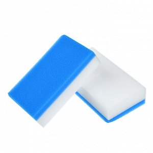 VETTA Набор губок-ластиков 2-в-1, 12х6,5х3см, 2 шт, меламин, полиуретан