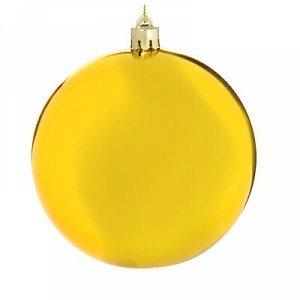 Елочный шар сноу бум 10 см, пластик, 1 шт, в пакете, золото