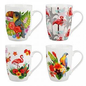 MILLIMI Тропические птицы Кружка 350мл, керамика, 4 дизайна
