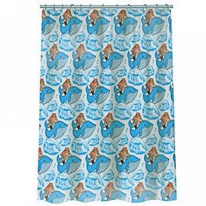"""С VETTA Шторка для ванной, полиэстер (микрофибра), 180x180см, """"Баба-Яга """", 2 дизайна"""